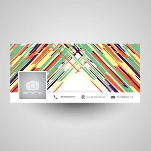 Abstrakt social media cover design vektor