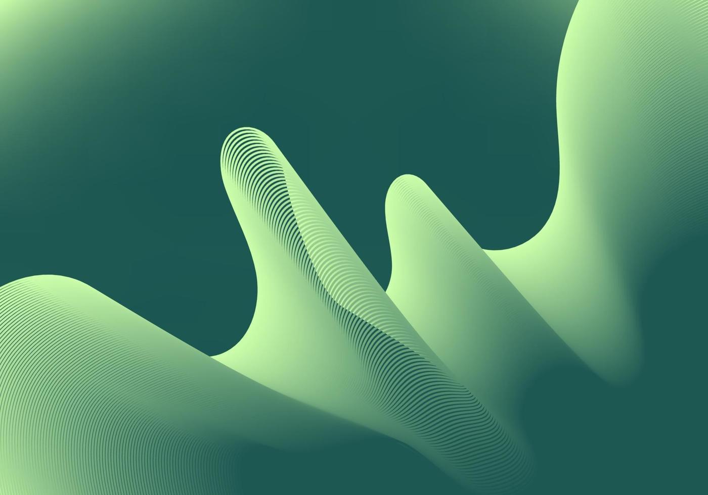 abstrakt gröna vågiga linjer tonad bakgrundsutrymme för din text. vektor
