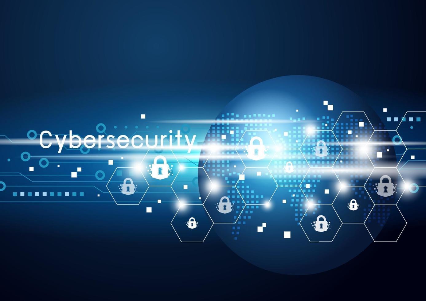 Cybersicherheit und globale Netzwerkvektorillustration vektor