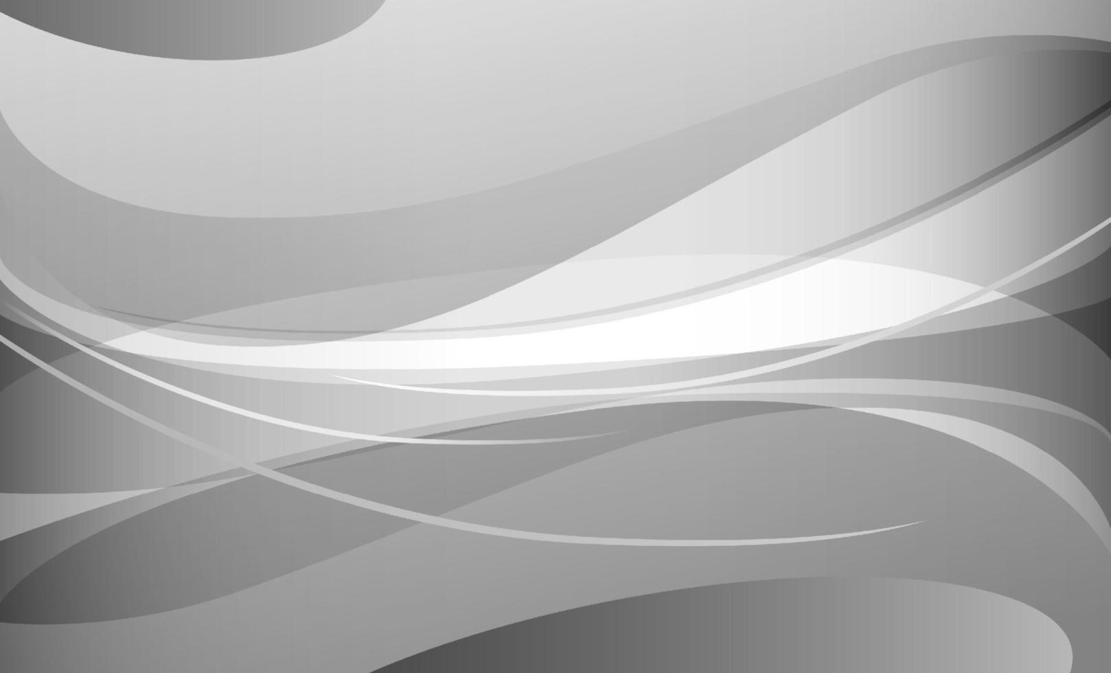 abstrakte weiße und graue Kurve Hintergrundvektorillustration vektor