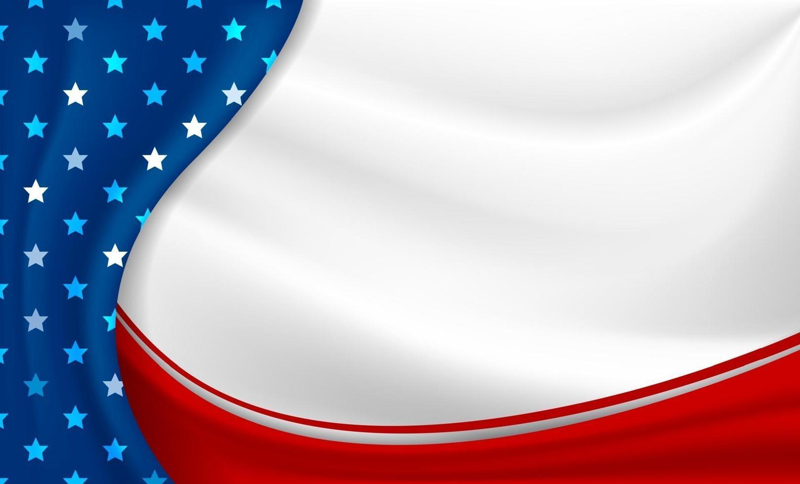Amerika oder USA Feiertage Hintergrund 4. Juli Unabhängigkeitstag und andere Feier Vektor-Illustration vektor
