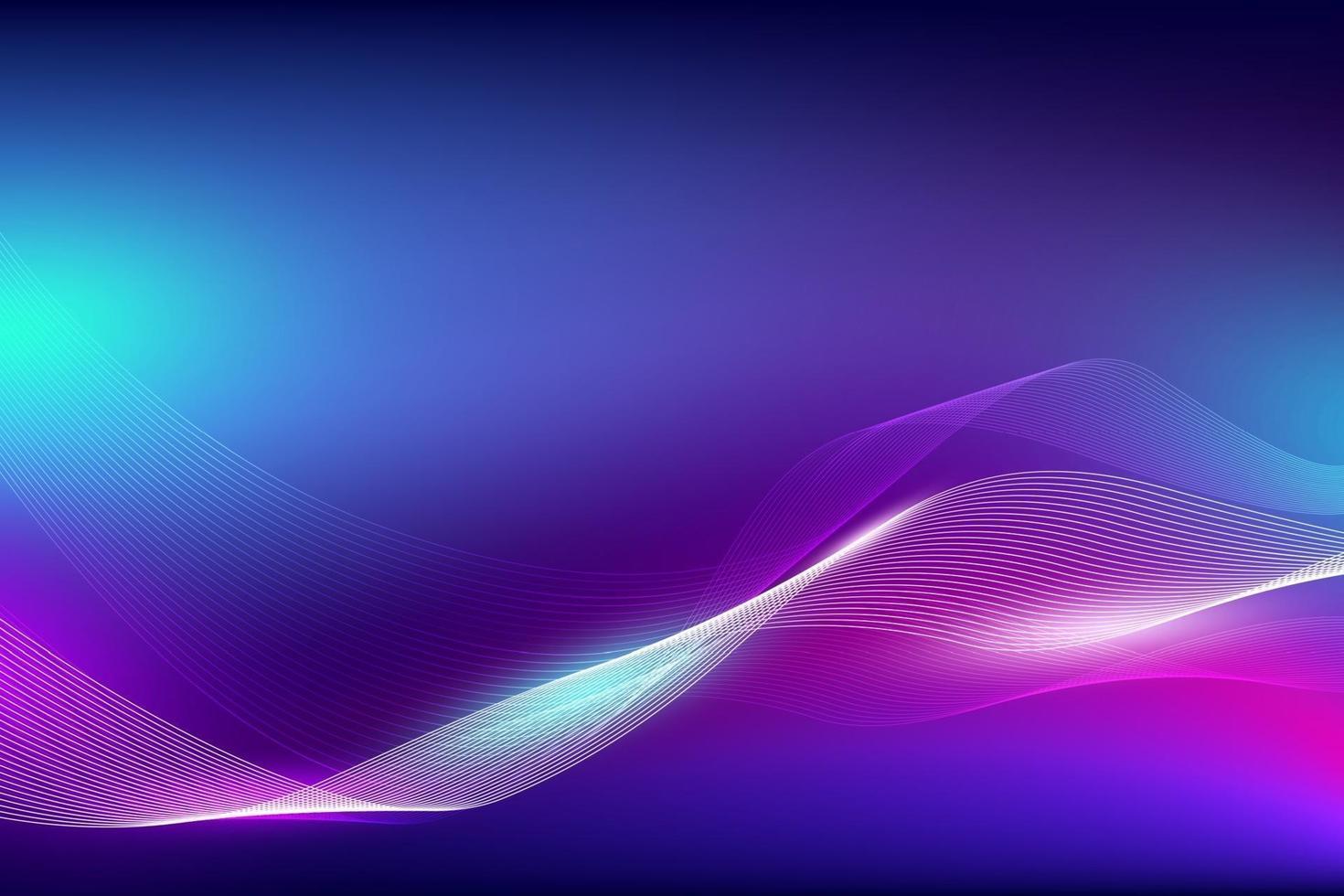 abstrakte flüssige Farbe und Linienwelle mit heller Hintergrundvektorillustration vektor