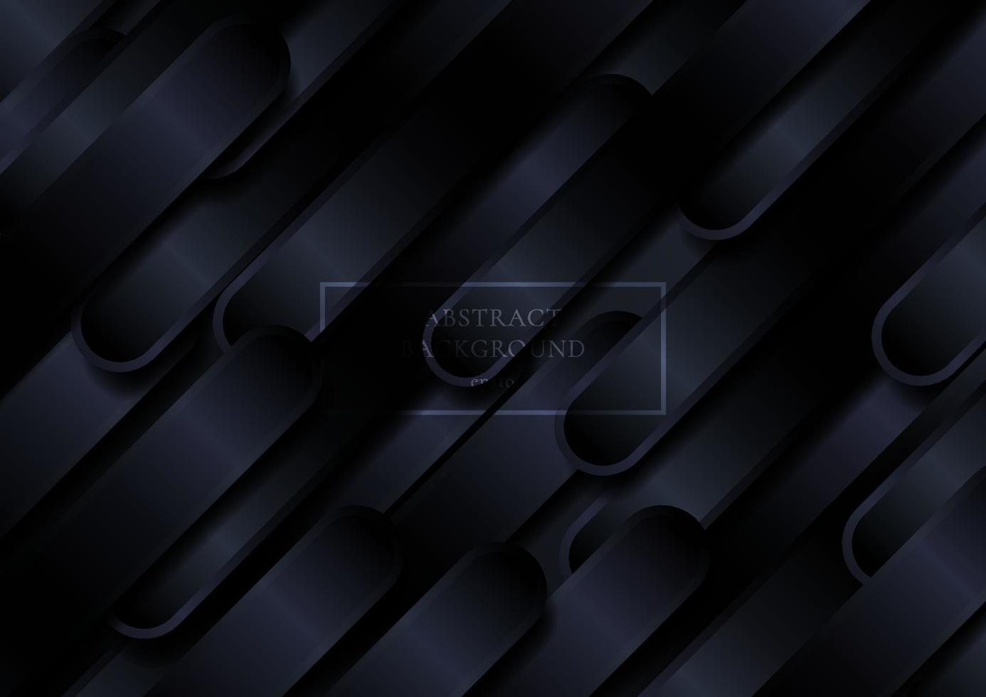 abstrakte schwarze Diagonale abgerundete Formen Linienmuster Hintergrund. vektor