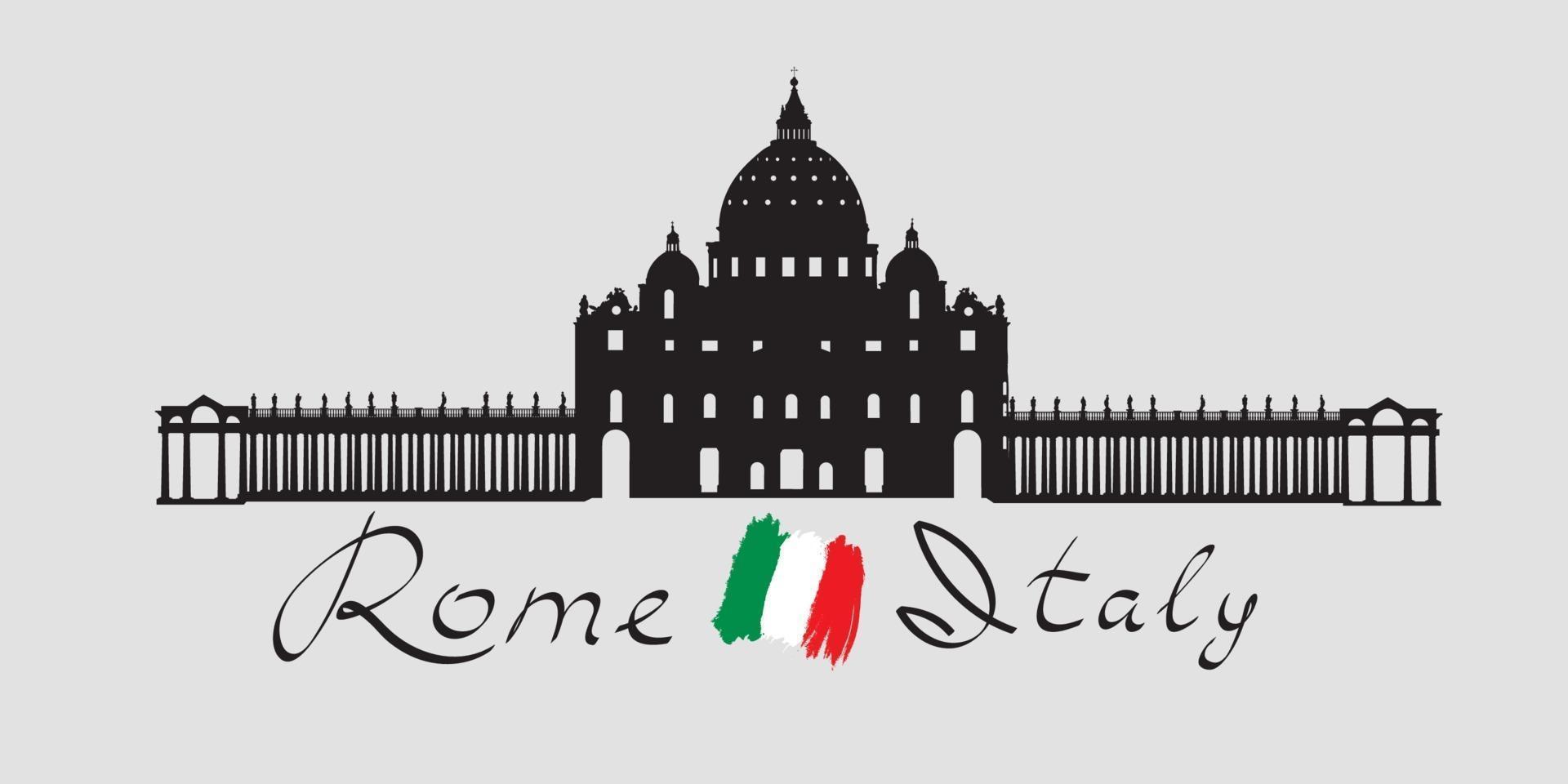 Rom Reise Wahrzeichen, Saint Peter Kathedrale vektor