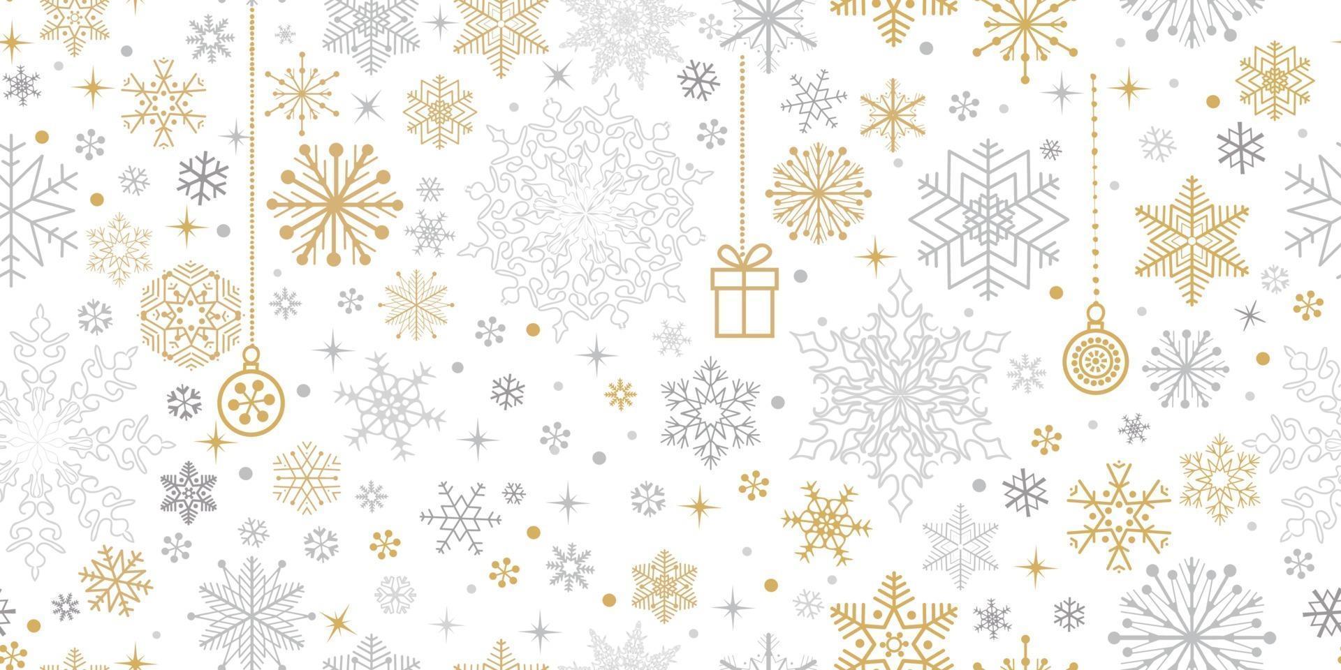 nahtloses Weihnachtsmuster. Feiertagsikonen und Spitzenkristallhintergrund vektor