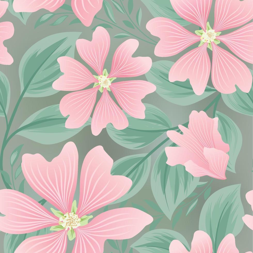 sömlös blommönster för blommor. blommig trädgård kakel bakgrund. vektor