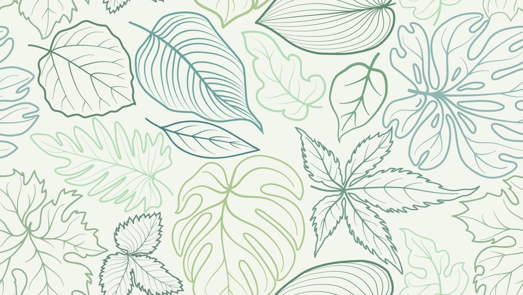 Blumenmuster mit Blättern. Blume nahtlosen Sommer festlichen Hintergrund. vektor