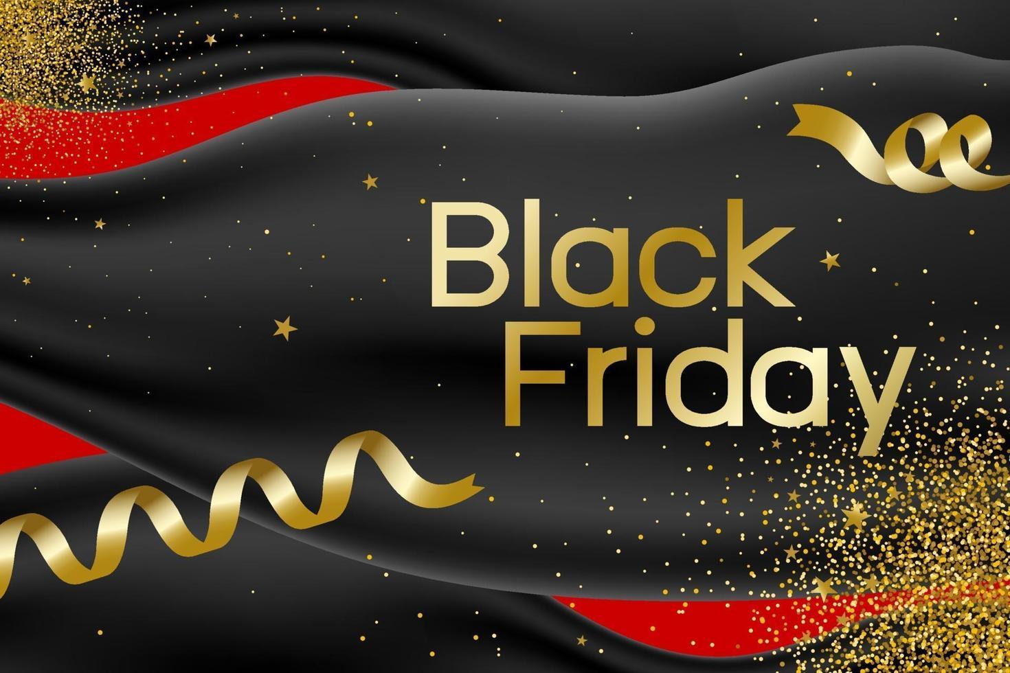 schwarzer Freitag Banner Design Vektor-Illustration vektor