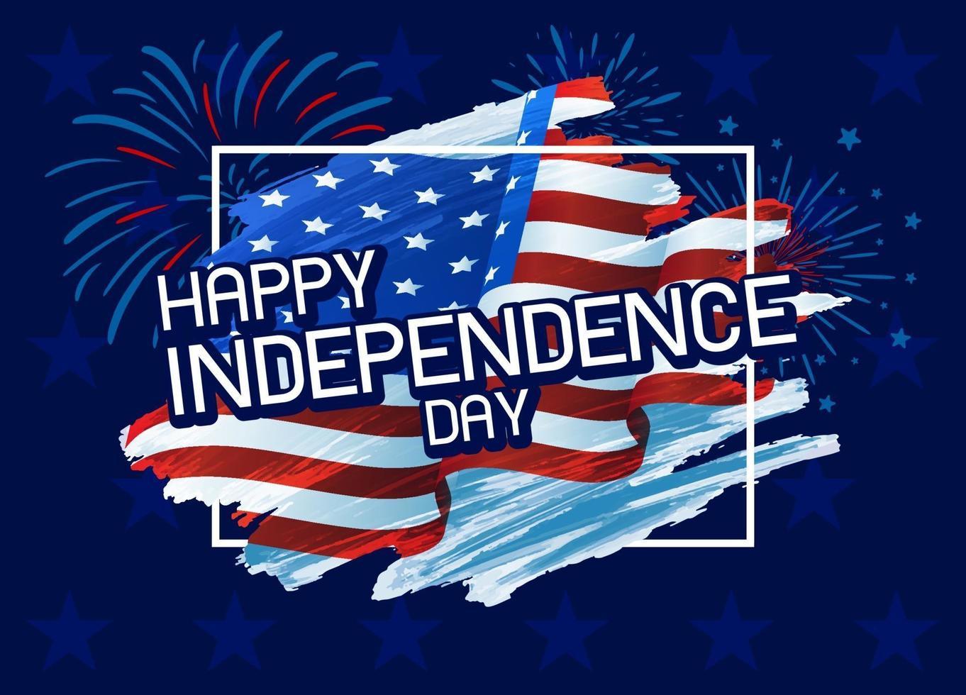 USA 4. Juli glücklich Unabhängigkeitstag Vektor-Illustration vektor