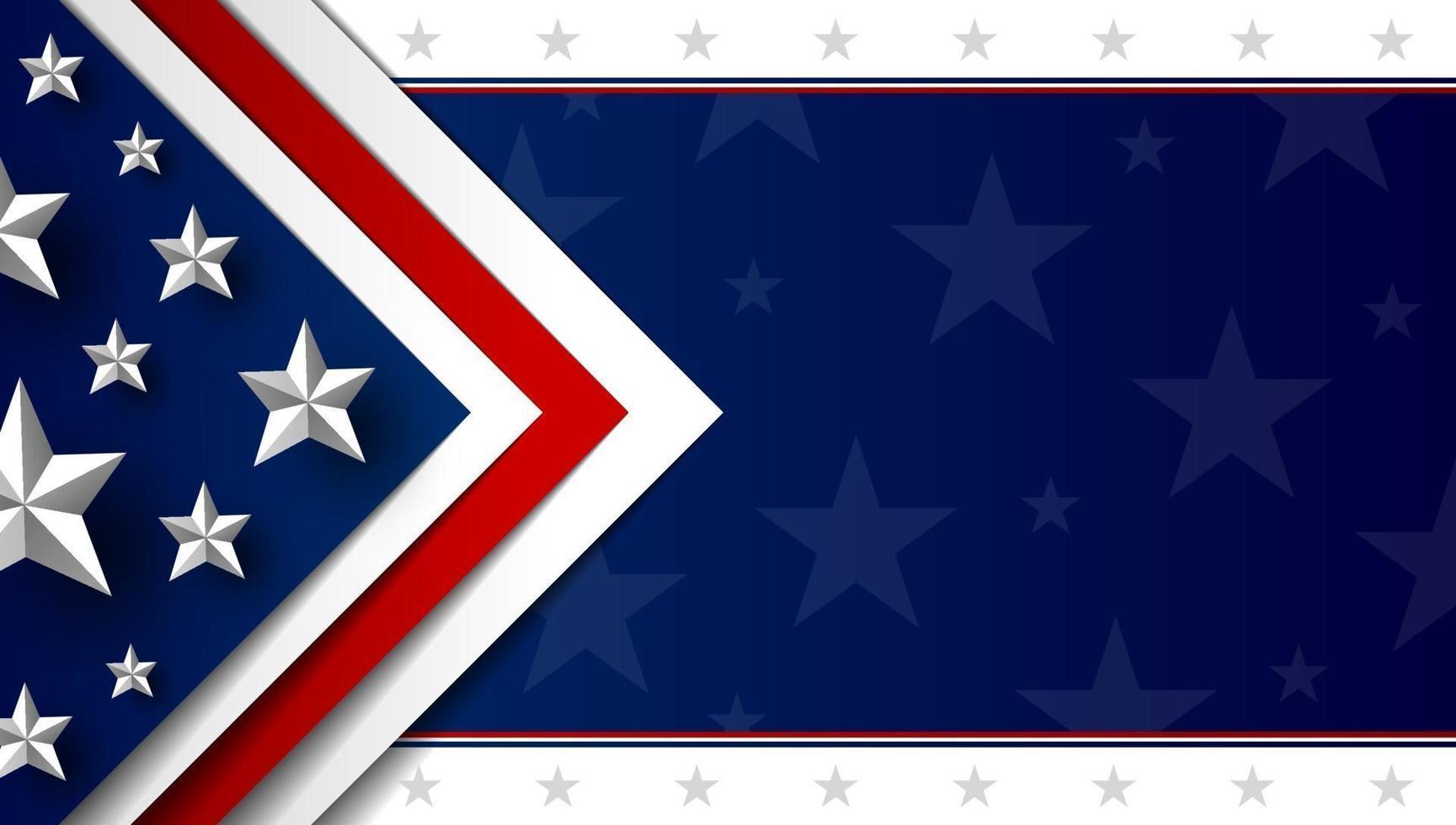 USA Hintergrund Design Vektor-Illustration vektor