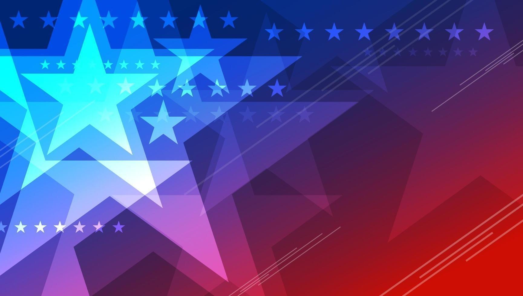 abstrakte USA Hintergrund Design des Sterns für 4. Juli Unabhängigkeitstag Vektor-Illustration vektor