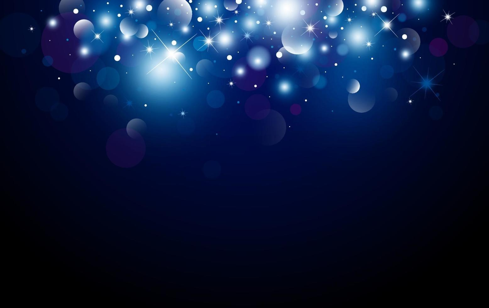 Weihnachtshintergrunddesign von Bokeh und Lichteffektvektorillustration vektor