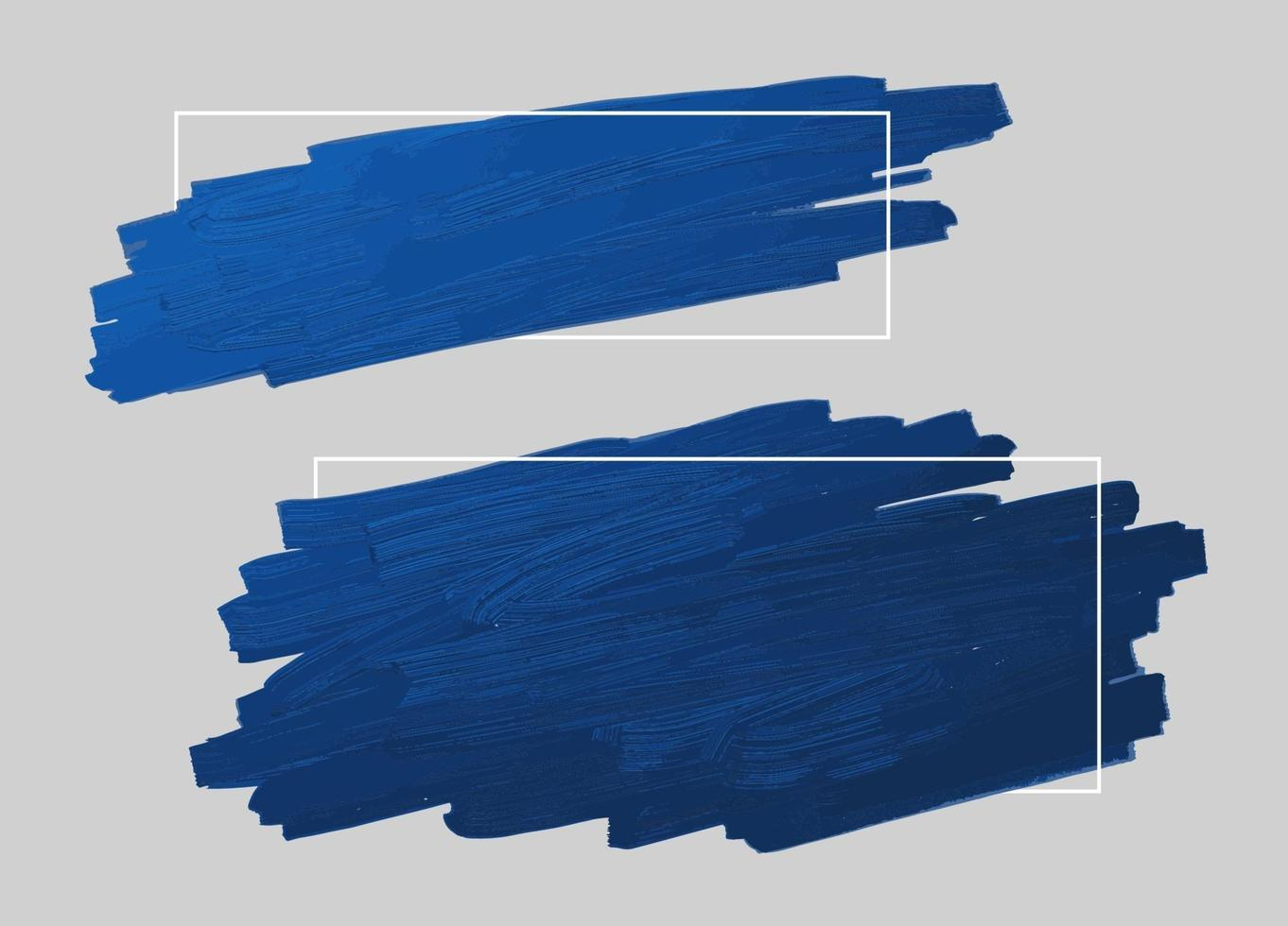blå penseldrag och linje ram med kopia utrymme vektorillustration vektor