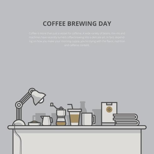 Eiskaffee-Illustration. Kaffee-Brauen. vektor