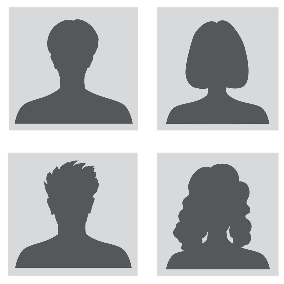 Satz von Personen Profil Silhouetten. anonyme Porträtformen vektor