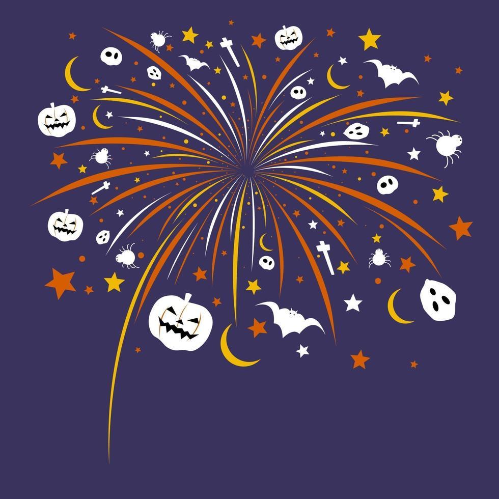 halloween fyrverkerier design vektorillustration vektor
