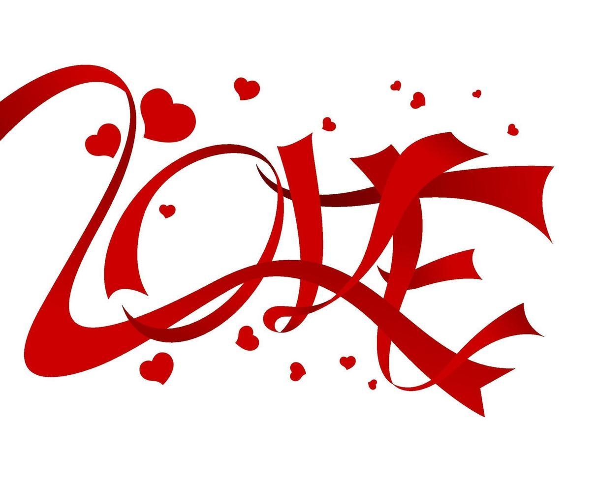 kärleksdesign på vit bakgrundsvektorillustration vektor