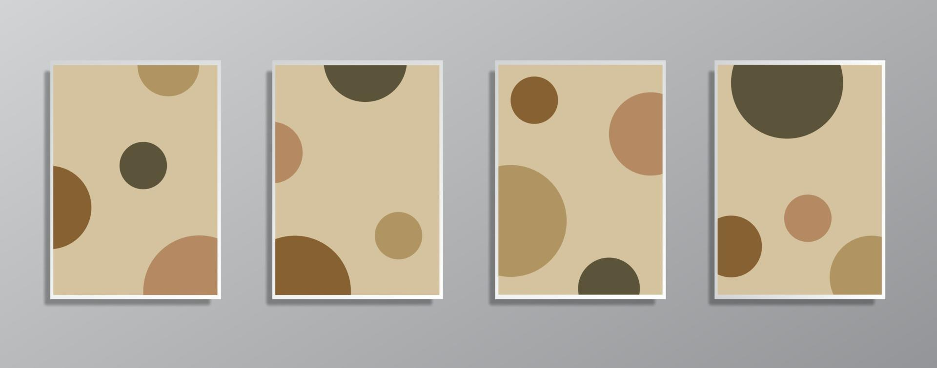 uppsättning kreativa minimalistiska handritade vintage neutrala färgillustrationer, för vägg vektor
