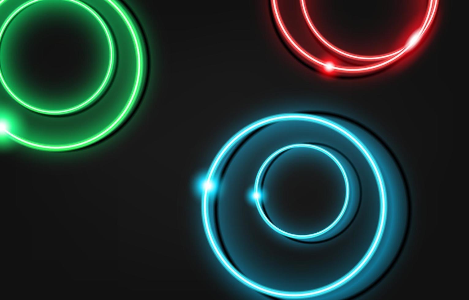 Neon Kreis Luxus Hintergrund mit Metall Textur 3d abstrakt. Geeignet für Tapeten, Banner, Hintergrund, Karte, Buchillustration, Landing Page, Geschenk, Cover, Flyer, Bericht, Geschäft, Social Media vektor