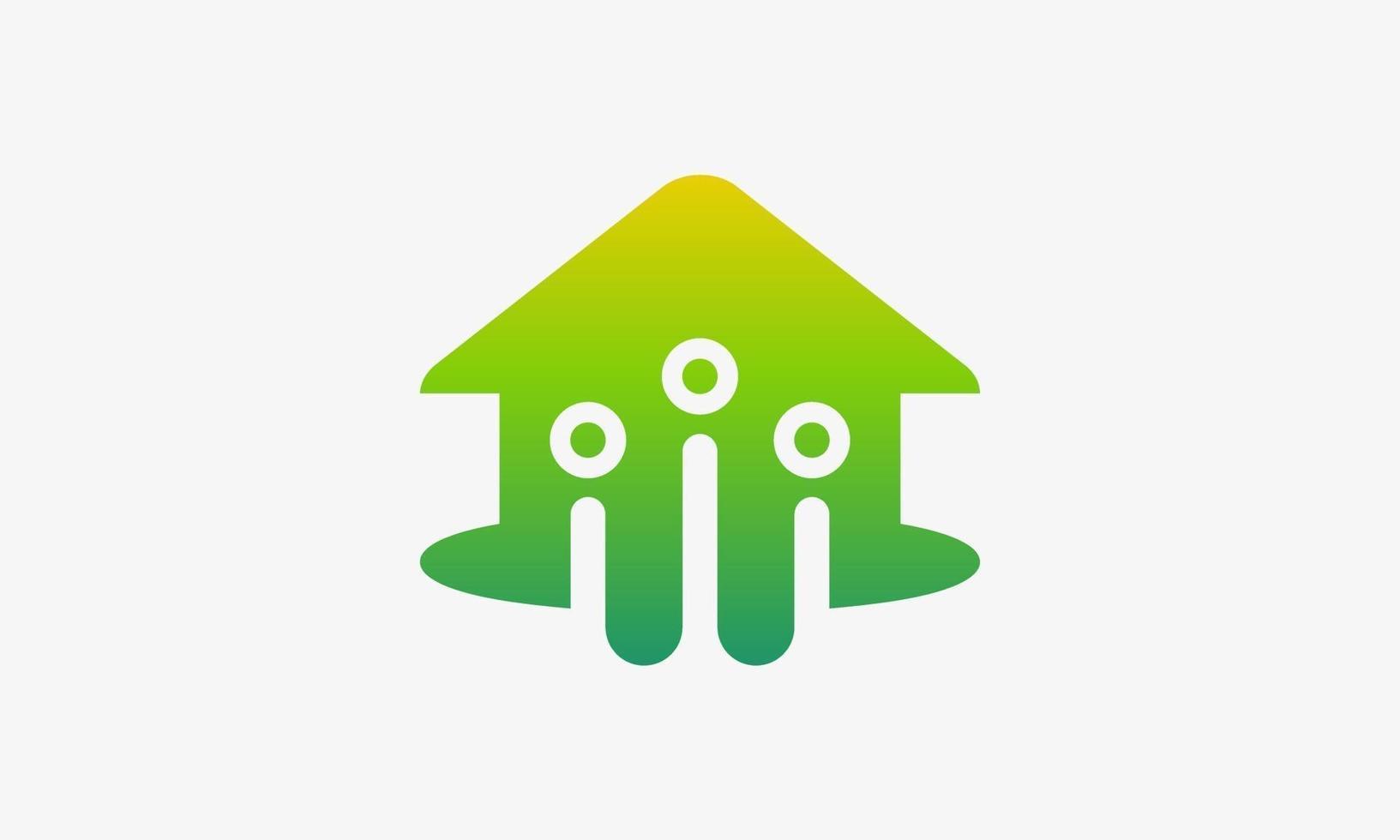 fastighetsgrupp ikon design vektor