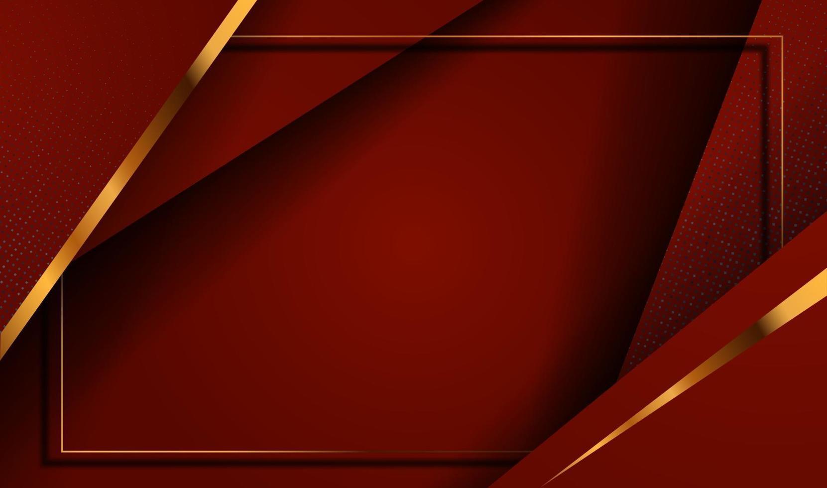 pappersskuren lyxig guldbakgrund med abstrakt metalltextur 3d vektor