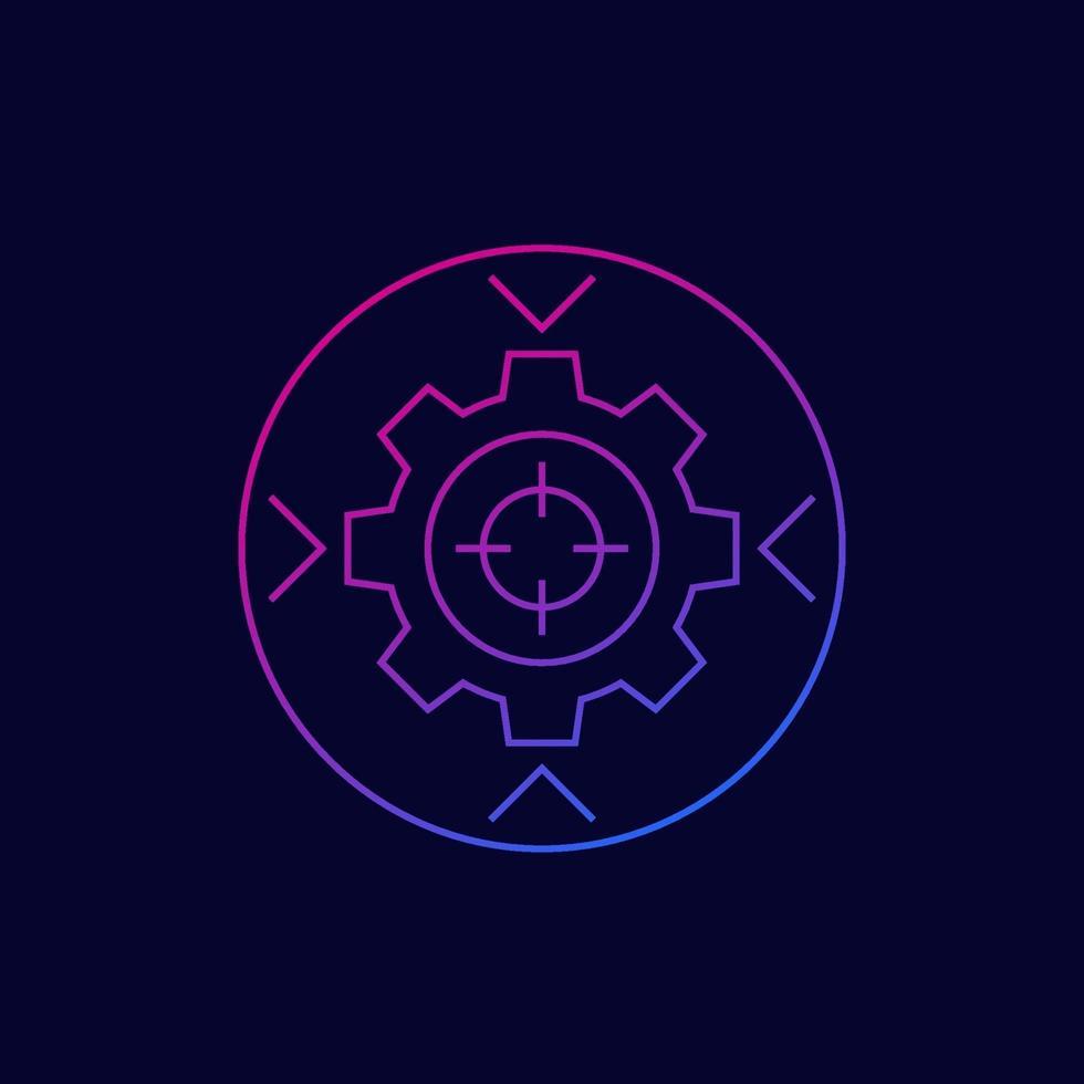 integrations koncept vektor ikon, linjär stil. eps