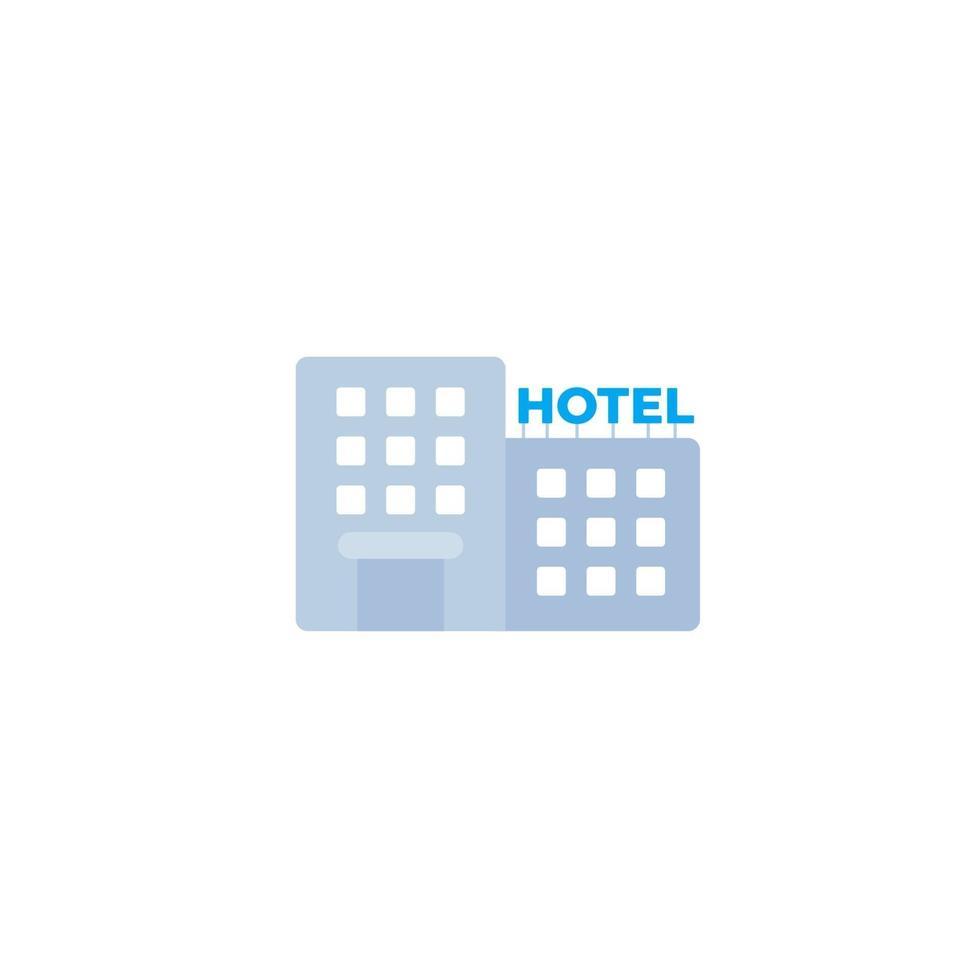 Hotelikone im flachen Stil vektor