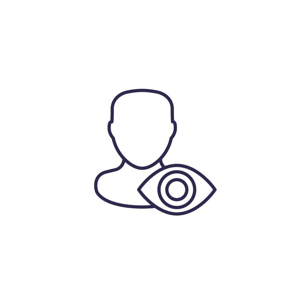 betraktare eller åskådare vektor linje ikon. eps