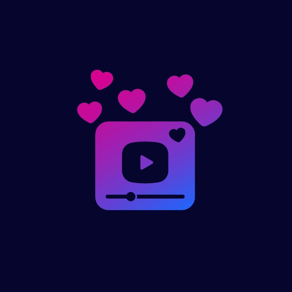viralt videoinnehåll, vektor icon.eps