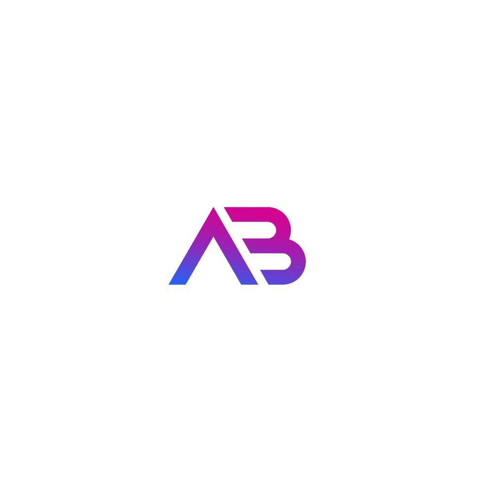 ab monogram vektor logotyp på white.eps