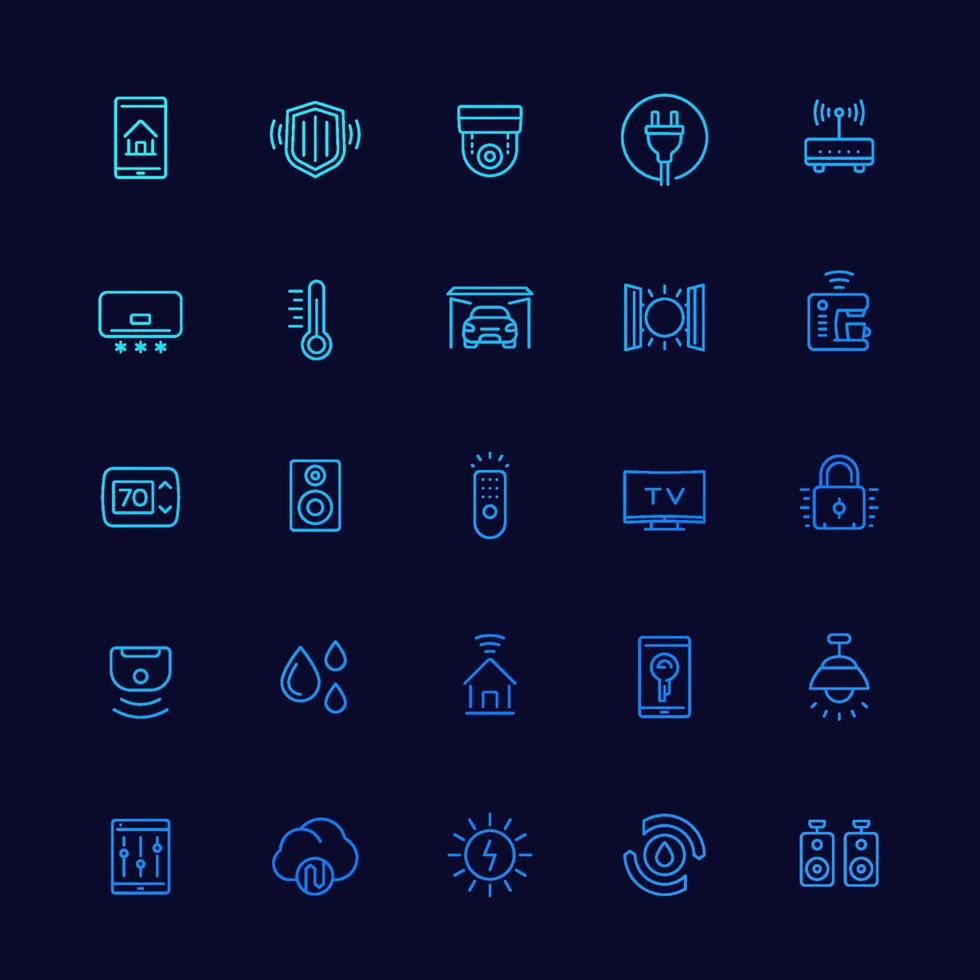 Smart House und Home Automation Icons, Linie vector.eps vektor