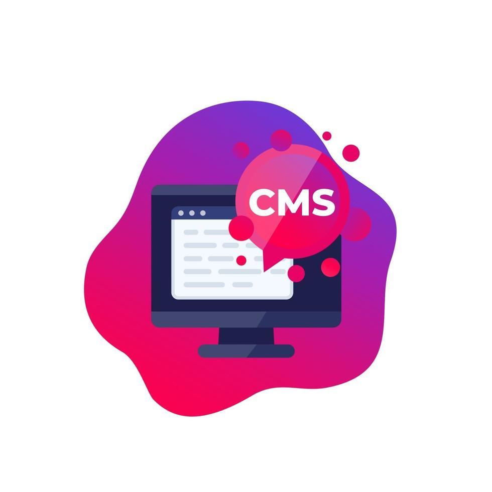 CMS-ikon, innehållshanteringssystem, vector.eps vektor