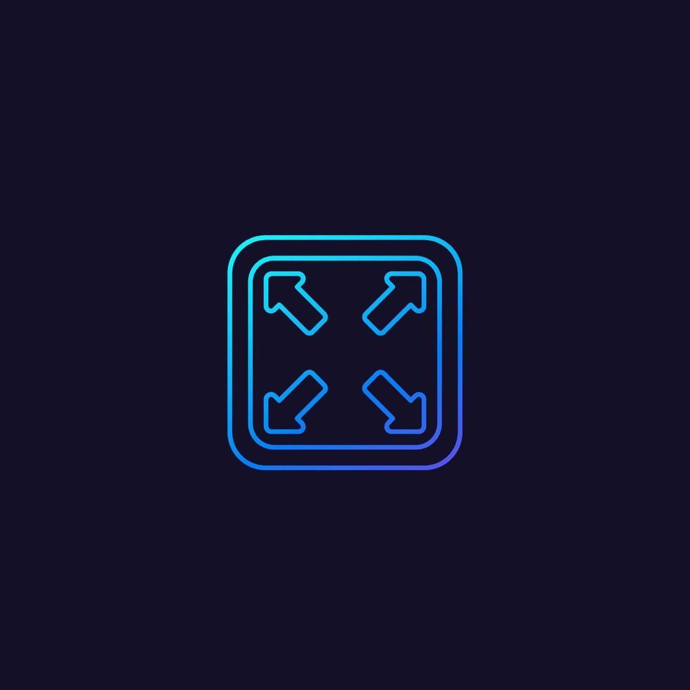 förstora ikonen i linjär stil. eps vektor