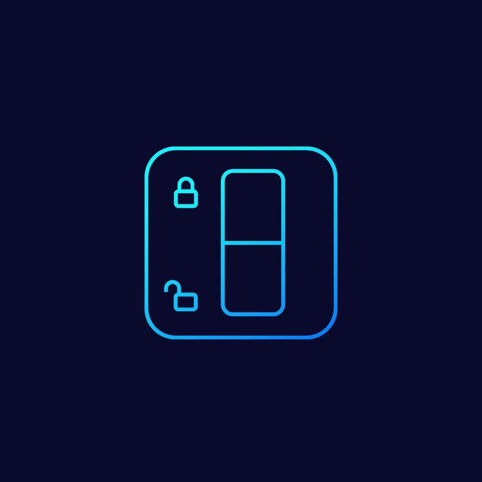 låsbrytare vektor linjär ikon.eps
