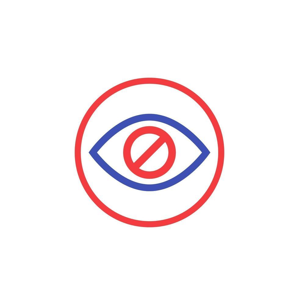 versteckter, versteckter Inhaltsvektor icon.eps vektor