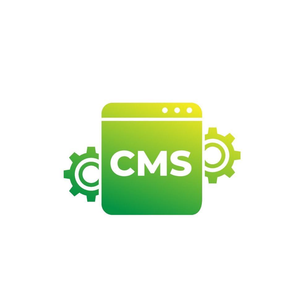 cms, content management vector icon för web.eps