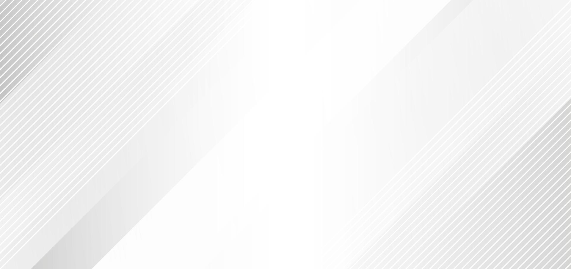 abstrakter eleganter weißer und grauer Hintergrund mit diagonalen Streifenlinien. vektor