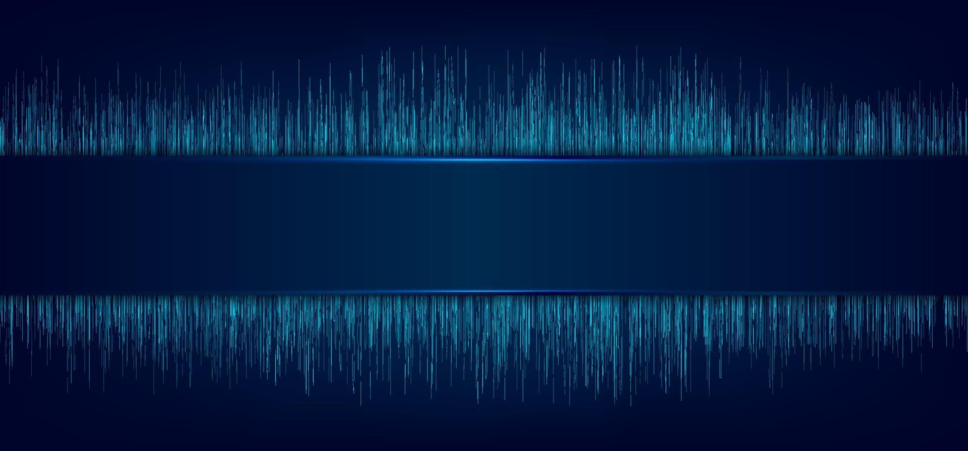 abstrakt blå etikett och laserbelysning med dynamiska linjer rörelse. mönster bakgrund i teknik futuristiska koncept. vektor
