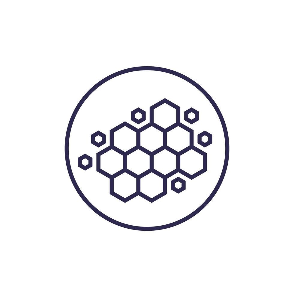 nanomaterial, nanostruktur, vektorrad ikon. eps vektor