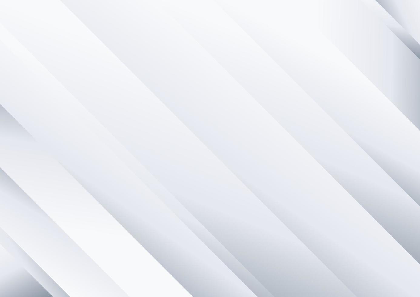 abstrakt bakgrund vit och grå diagonal ränder mönster vektor