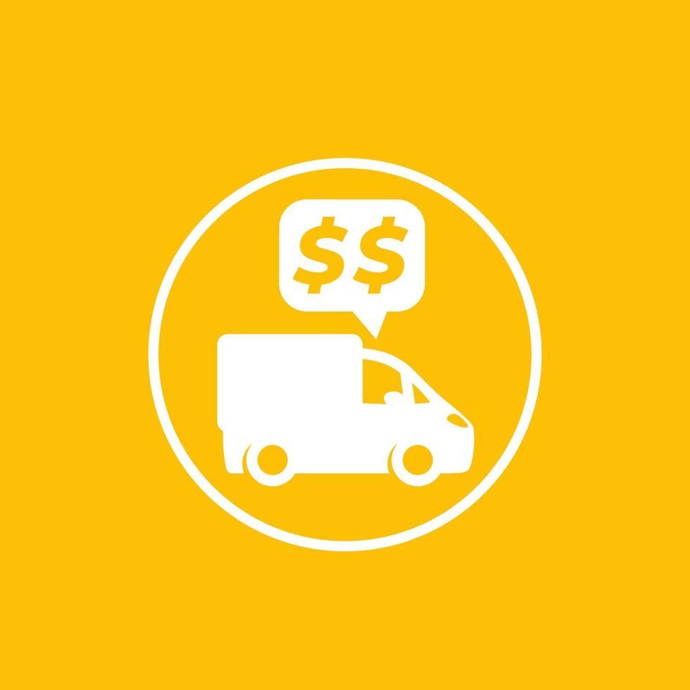 transportkostnader, betalningar vektor icon.eps