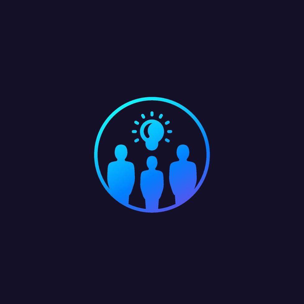 människor med idéer ikon med gradient.eps vektor