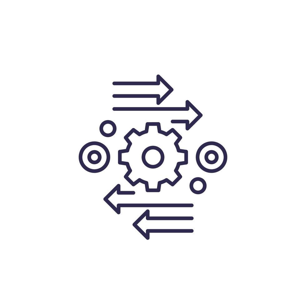 Automatisierung und Optimierung Vektorlinie icon.eps vektor