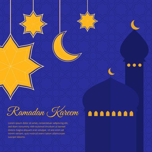 Ramadan Kareem Vector Bakgrund