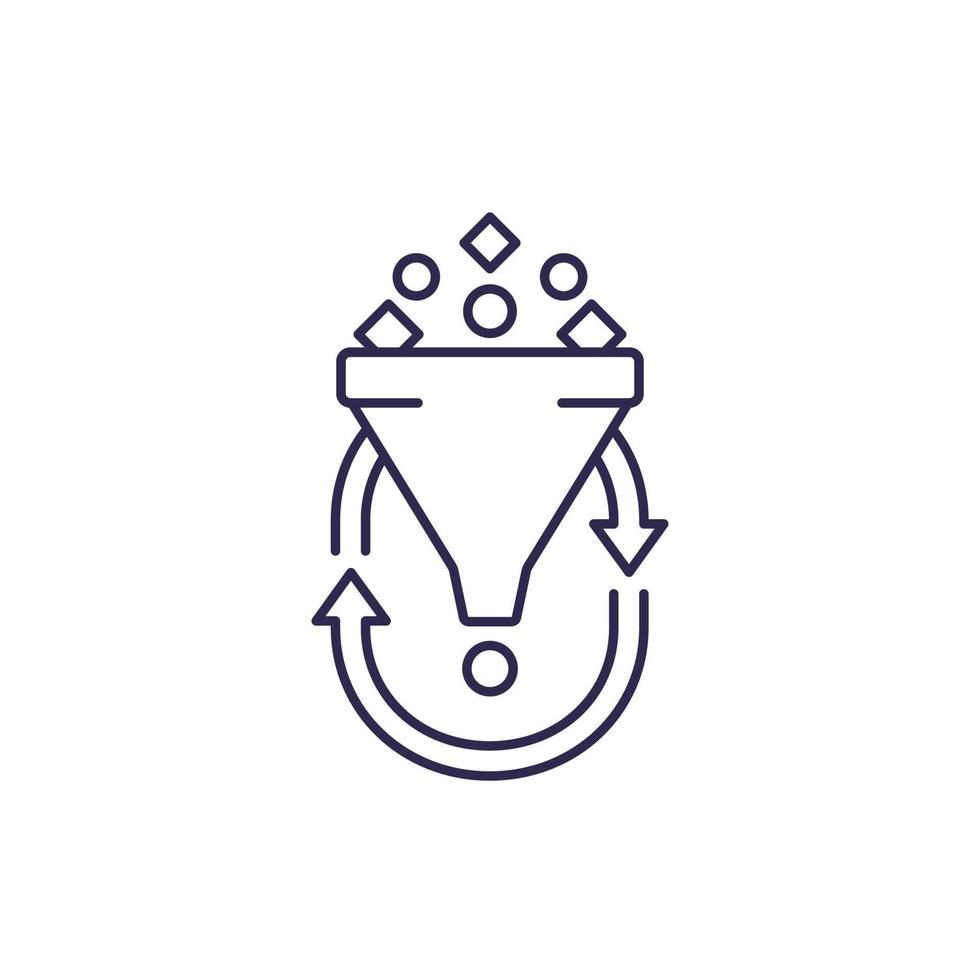 Filterung, Liniensymbol auf white.eps vektor