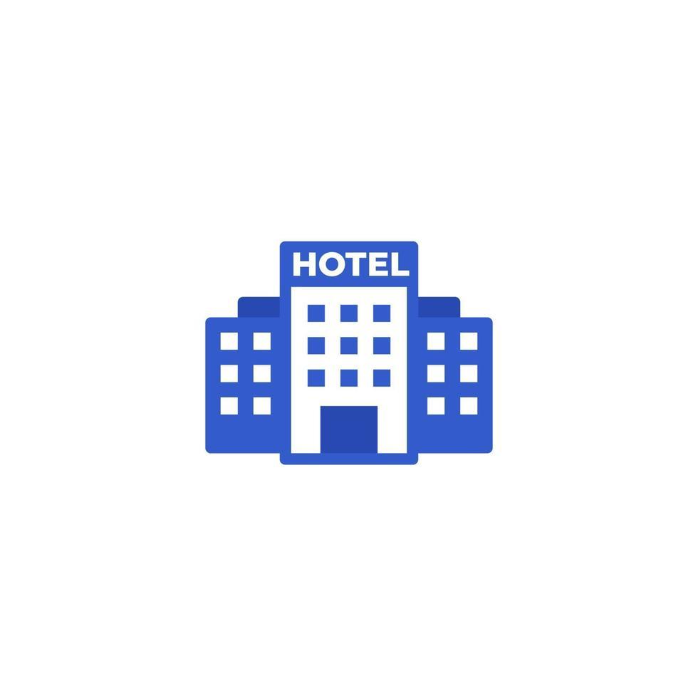 hotell vektor ikon på white.eps