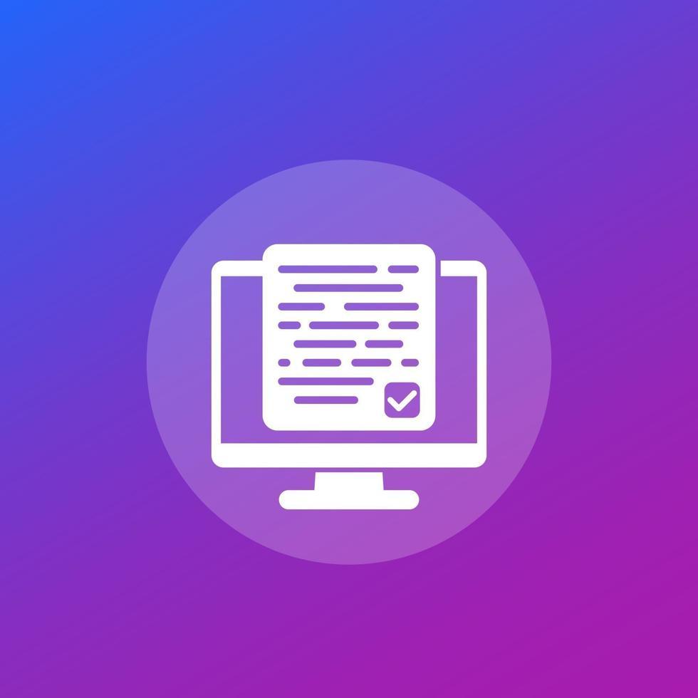 Akzeptieren neuer Geschäftsbedingungen vector icon.eps