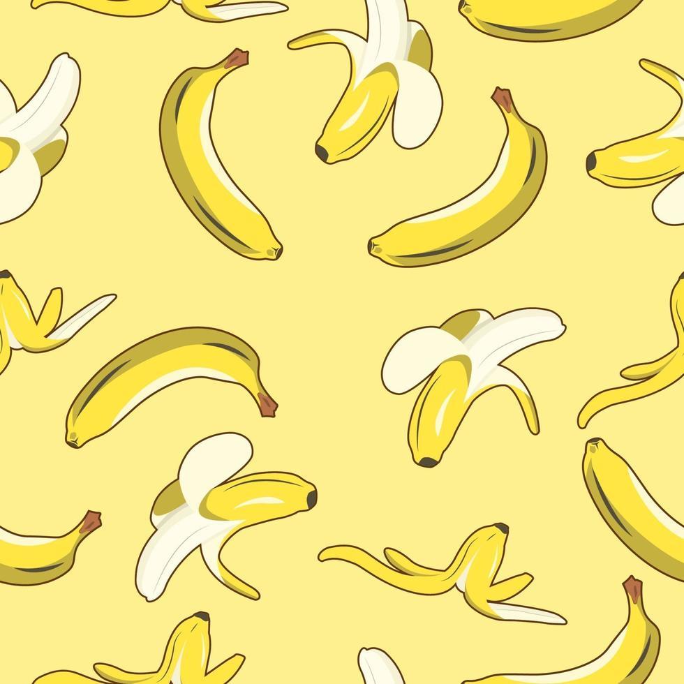 banan frukt sömlösa mönster vektor