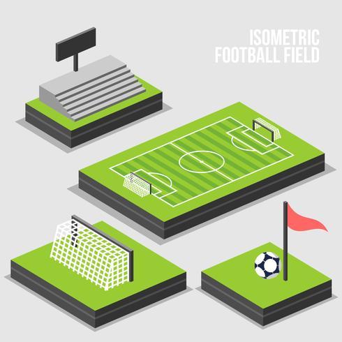 Isometrisk fotbollsfältvektor vektor