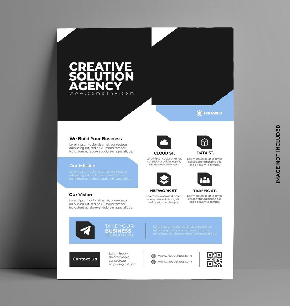 företag flygblad broschyr flygblad mall. vektor